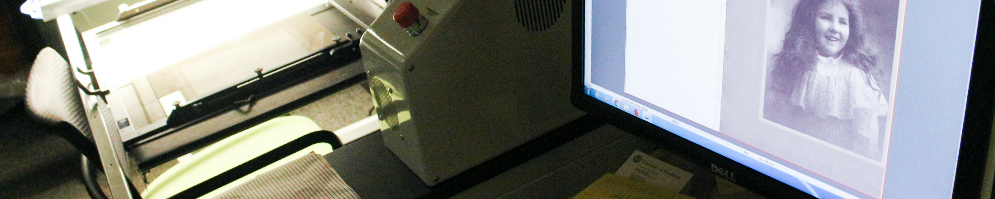 Using the Digibook scanner to scan a large photograph