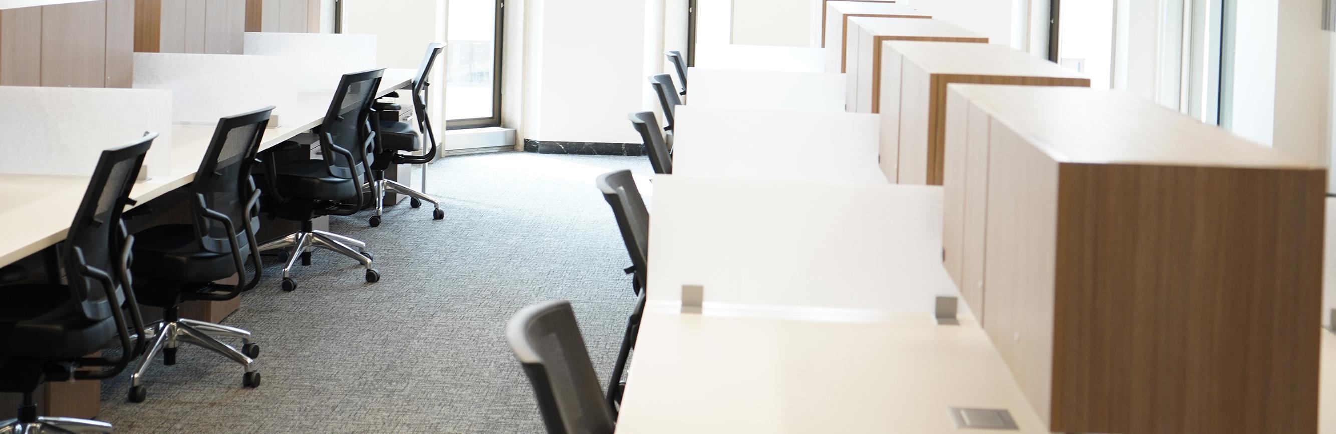 Graduate study room carrels