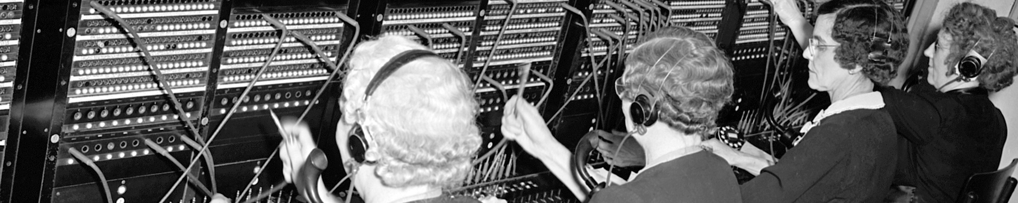 4 Telephone operators in the United States Steel Corporation in April 1946.