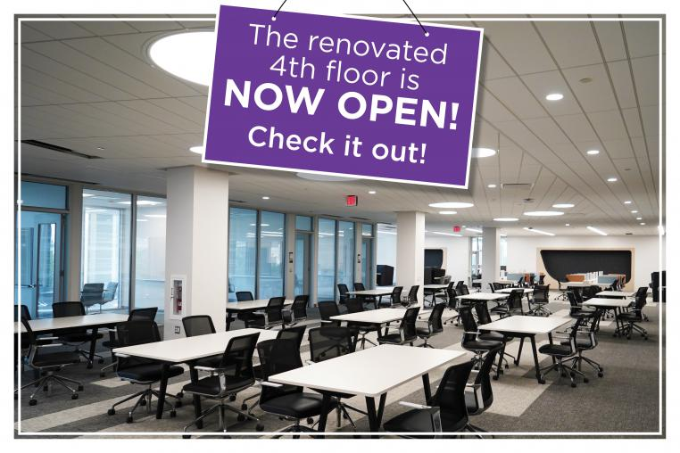 The renovated 4th floor is NOW OPEN! Check it out!