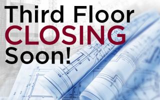 Third Floor Closing Soon Sign